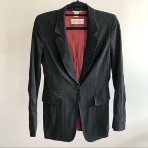 Max Mara 1990s VTG Black Wool Blazer
